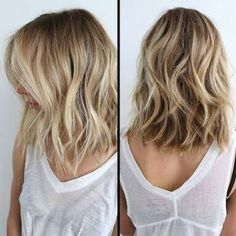 Long bob blonde …
