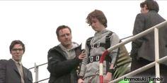 Hilarious!!!! Michael Fassbender on Xmen First Class (gif)