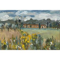 Artwork by Perpetua Pope, FARM BUILDINGS AND SPRING FLOWERS, Made of oil on canvas Spring Flowers, Oil On Canvas, Buildings, Art Gallery, Auction, Artwork, Painting, Art Museum, Work Of Art