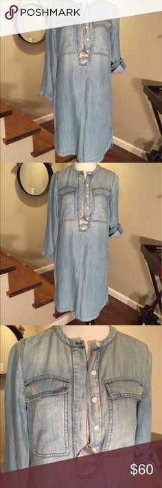J. Crew chambray/ denim dress Perfect fading - j Crew denim dress J. Crew Dresses