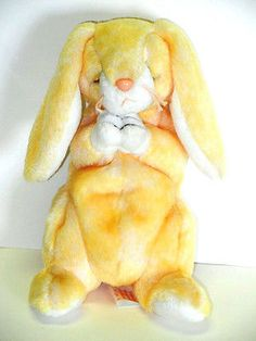 Ty Beanie Baby Stuffed Plush Grace Praying Yellow Bunny Rabbit Easter 2000  6in 171777523a98