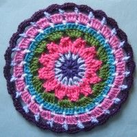 Crochet Mandala Wheel made by Carolyn, Somerset, UK for yarndale.co.uk