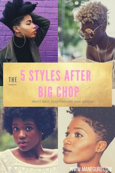 Help, what do I do after the Big Chop/TWA? Don't worry, here's 5 DOPE styles to…