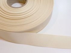 Cream Grosgrain Ribbon 7/8 inch wide x 20 yards by GriffithGardens, $10.00