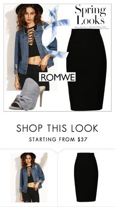 """""""Romwe"""" by ffff88 ❤ liked on Polyvore featuring Daya and H&M"""