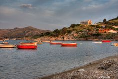 Anavissos fishing boats. Greece.