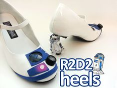 R2-D2 Star Wars Heels > weird! Who would actually wear these?