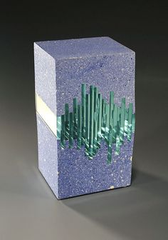 Sculpture of concrete and glass by Michael Eddy Cement Art, Concrete Art, Concrete Design, Glass Design, Concrete Crafts, Concrete Projects, Concrete Sculpture, Sculpture Art, Mosaic Glass