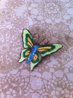 Vintage sterling silver and enamel brooch by by kickthecanvintage, $32.00