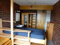 Alvar Aalto | Baker House | Room 627 | Habitaciones de los estudiantes en la residencia