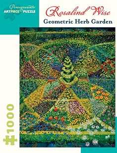 Geometric Herb Garden 1000 Piece Jigsaw Puzzle by Rosalind Wise by Pomegranate *** To view further for this item, visit the image link.