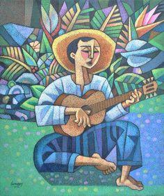 Gitarista by Ninoy Lumboy, a Filipino artist.