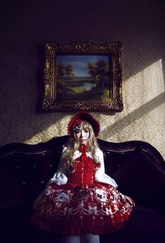 Snow White is waiting for her prince >>> http://www.my-lolita-dress.com/infanta-snow-white-jsk-dress-inf-131[★IN STOCK★]