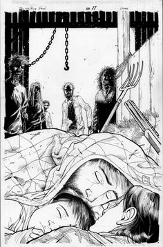 Walking Dead 11 Cover, in Black Adler's Moore, Tony Comic Art Gallery Room Walking Dead Comics, Walking Dead Series, The Walking Dead, Twd Comics, Horror Comics, Zombie Art, Book Of Life, Zombies, Spiderman