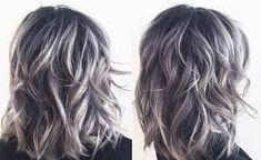 gray highlights in dark brown hair Reverse Ombre Hair, Ombre Hair Color, Hair Colors, Hair Job, Gray Balayage, Transition To Gray Hair, Bob, Dark Hair With Highlights, Haircut And Color