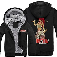 CosEnter FAIRY TAIL Erza Winter Hoodies Size XXL (height 71-73 in,weight 140-160lbs)