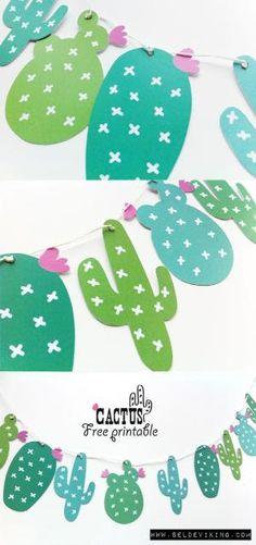 FREE printable cute #Cactus by enid