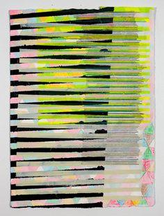 Original Painting, Pink, Black & Yellow Geometric NY1213. $500.00, via Etsy.  Jennifer Sanchez