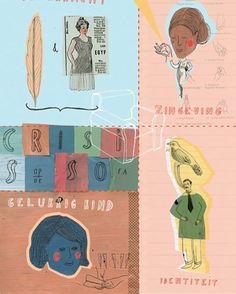 Illustration I made a while ago for magazine Psychologies - Belgium #illustration #illustratorsoninstagram #illustrationgram #collage #psychologiesmagazine