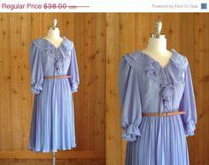vintage periwinkle chiffon dress