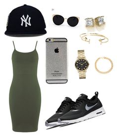 """Cool Saturday in the city."" by sweeetestgirl on Polyvore featuring Miss Selfridge, Una-Home, NIKE, Aéropostale, Marc by Marc Jacobs and Alessandra Rich"