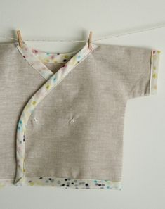 6  Free pattern: Newborn kimono shirt · Sewing | CraftGossip.com