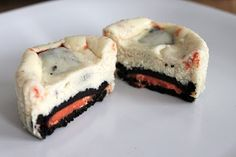 Baked Perfection: Halloween Oreo Cheesecake Cupcakes, I would almost eat these even though I hate cheesecake.