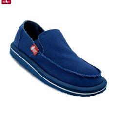 Zapatillas de lona en color azul para hombres de la firma Wax Modelos De  Zapatillas f2971bf0511