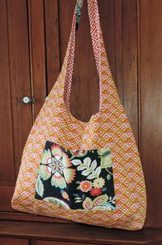 Market Bag Tote Bag Shoulder Bag Reversible Made In by abitofbeach