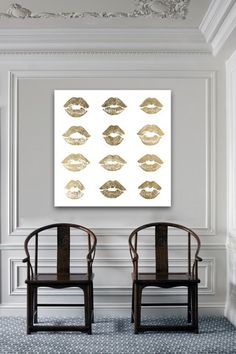 Oliver Gal Kisses Canvas Art by Oliver Gal Gallery on For a girly girl's room Home Interior, Interior Decorating, Asian Home Decor, Oliver Gal, Home Living Room, Interiores Design, Decoration, Design Inspiration, Hallway Inspiration