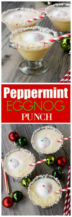 Peppermint Eggnog Punch - a non-alcoholic festive drink for Christmas! Christmas Cocktails, Christmas Brunch, Christmas Cooking, Holiday Drinks, Christmas Treats, Holiday Recipes, Xmas, Christmas Recipes, Merry Christmas