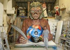 Eddie Scribe iron maiden england tour donington download festival theatre concert prop polystyrene carving fibreglass sculpture studios aden hynes sculptor 1.JPG (350×250)
