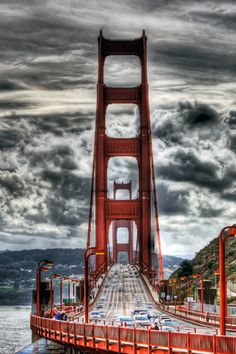 Golden Gate Bridge,San Francisco, CA. Love the sky in this view.
