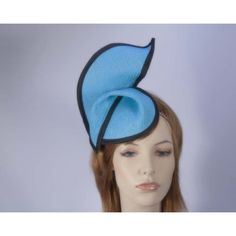 Turquoise black fashion pillbox fascinator hat for races Max Alexander... ❤ liked on Polyvore featuring accessories, hats, black fascinator hat, fascinator hats, black hat, black fascinator e hair fascinators