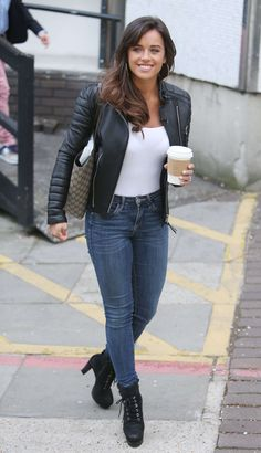 English actress and model Georgia May Foote was spotted outside ITV Studios in London on May, The looked casual and cool… Georgia May Foote Instagram, Casual Outfits, Fashion Outfits, Fashion Tips, Ladies Fashion, Zip Up Hoodies, Lace Up Booties, Casual Looks, Sexy Women