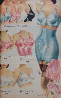 Various Vintage Lingerie Ads from the Web Vintage Girdle, Vintage Underwear, Lingerie Underwear, 1950s Fashion, Vintage Fashion, Club Fashion, Gothic Fashion, Vintage Dresses, Vintage Outfits