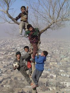Afghani kids being kids