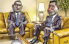 El trazo de Carlín sobre Adrián Villafuerte y Ollanta Humala