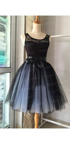 Front And Center Black Tulle Pleated Layers Tutu Ball Gown Ballerina Midi Skirt