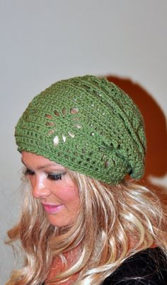 11169c34a9d Slouchy Beanie Women Hat Slouchy Hat Summer Hat CHOOSE COLOR Green Forest  Pea Green Crochet Gift