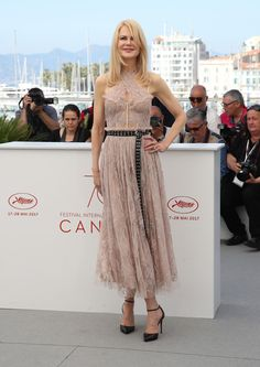 """Actress Nicole Kidman attends """"The Beguiled"""" photocall during the 70th annual Cannes Film Festival at Palais des Festivals on May 24, 2017 in Cannes, France."""