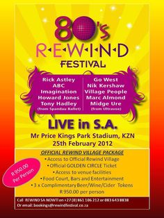 REWIND – THE 80'S FESTIVAL  - Durbantainment