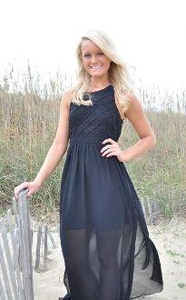 Black, Backless Maxi Dress
