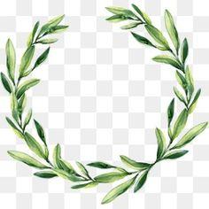 Green Leaf Garland, Acuarela Corona, Green Leaf Garland PNG Imagen y Clipart