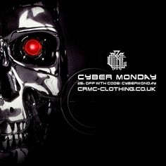 Missed our Black Friday discount? Fear not!  CRMC CYBER MONDAY DISCOUNT  Further reductions on many items at www.crmc-clothing.co.uk | WE SHIP WORLDWIDE  USE DISCOUNT CODE - CYBERMONDAY - FOR 25% OFF YOUR FULL ORDER #cybermonday #cybermonday2016 #cybermondaysale #cybermondaydeals #cybermondayshopping #discounts #sale #robocop #discount #yourmovecreep #robocop2 #alternativegirl #alternativeboy #alternativeteen #blackwear #fashionstatement #altfashion #black