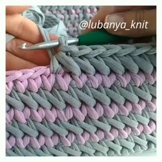 crochet for home Crochet Basket Tutorial, Crochet Bag Tutorials, Crochet Cord, Crochet Basket Pattern, Crochet Instructions, Crochet Videos, Crochet Crafts, Crochet Stitches, Crochet Projects