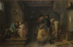 Artist Adriaen Brouwer Artist dates 1606? - 1638 Full title Tavern Scene Date made about 1635 Medium and support Oil on oak Dimensions 48 x 67 cm Acquisition credit Bought with the support of a number of gifts in wills, 2002 Inventory number NG6591 Location in Gallery Room 28
