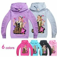 JoJo Siwa Girls Mix and Match Spring Bow Hoodie Top Tee Dress and Jogger