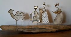 The Magi x Already in the summer I have with my Sta . String Crafts, Wire Crafts, Paper Crafts, Christmas Nativity, Christmas Crafts, Hobbies And Crafts, Arts And Crafts, Book Page Crafts, Recycled Art
