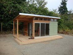 12' x 16' Coastal Backyard Office | Westcoast Outbuildings